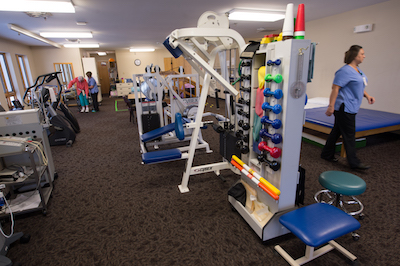 Physical Therapy gym at Fitzgibbon Hospital