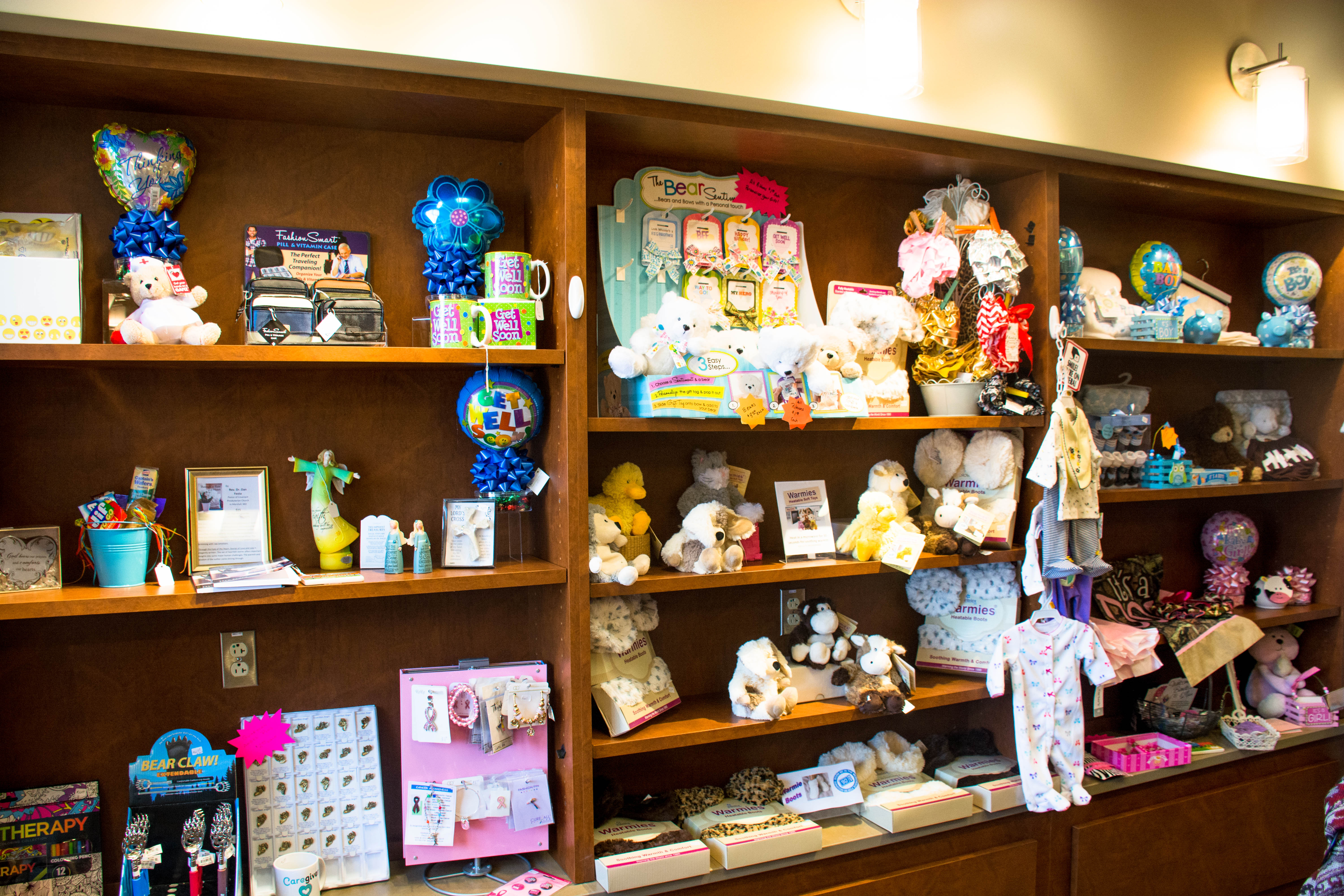 Gifts and toys available at the Fitzgibbon Hospital Auxiliary Gift Shop
